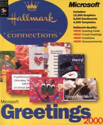 MS Greetings PC CD Create Custom Hallmark Cards Templates - Hallmark card templates